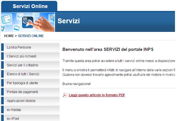 servizi online per il cittadino guida